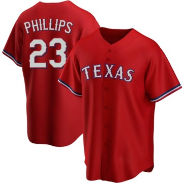 Replica Tyler Phillips Youth Texas Rangers Red Alternate Jersey
